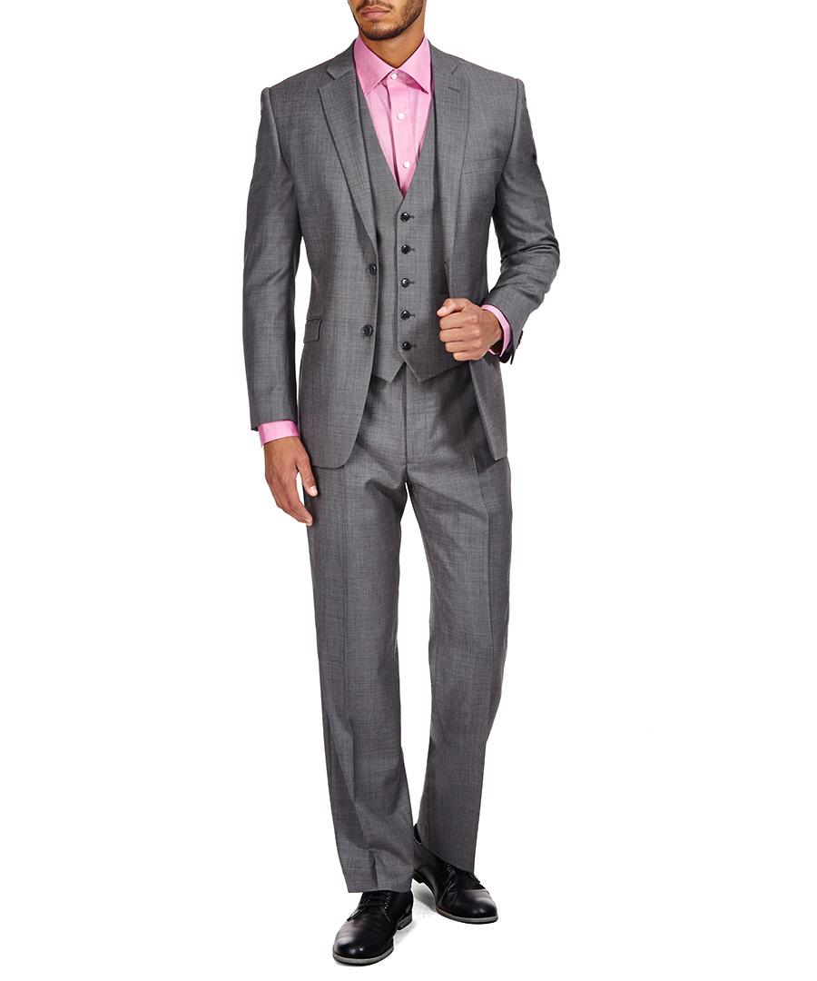 discount grey pure wool three piece suit secretsales. Black Bedroom Furniture Sets. Home Design Ideas