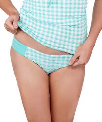 Seersucker mint hipster bikini briefs