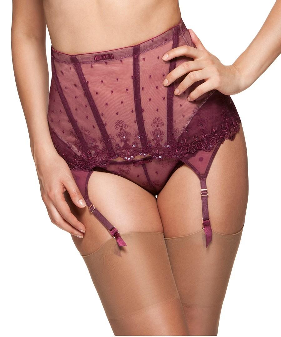 ce8875d77 Femme Fatale plum waspie suspender belt Sale - Gossard ...