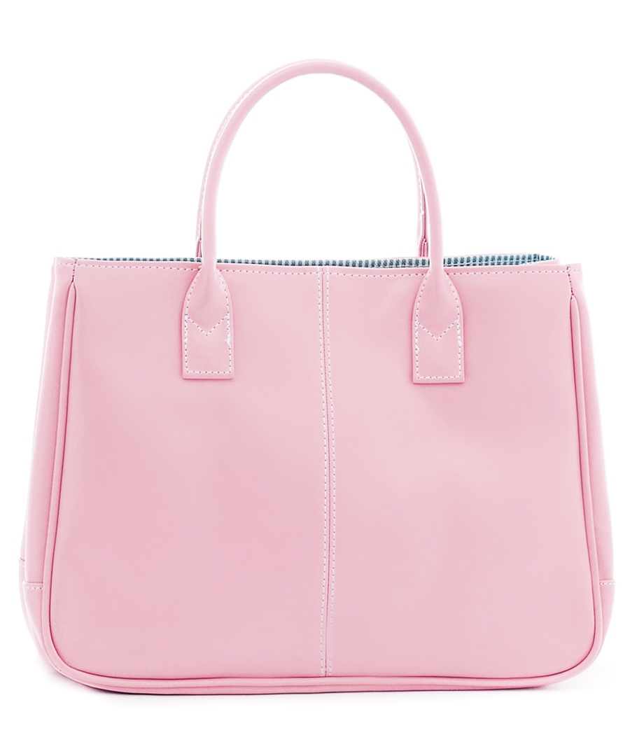 Light pink leather square tote bag Sale - CANNCI