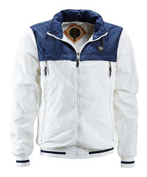 Men's white and blue cotton jacket