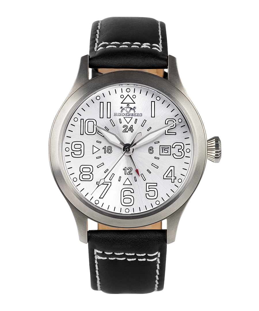Air Rider steel dial leather watch Sale - hindenberg