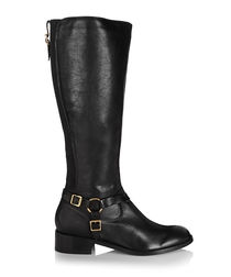 Petra black leather boots