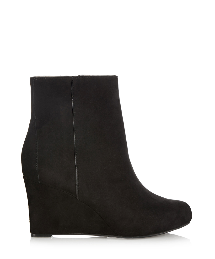rockport black suede wedge ankle boots designer footwear