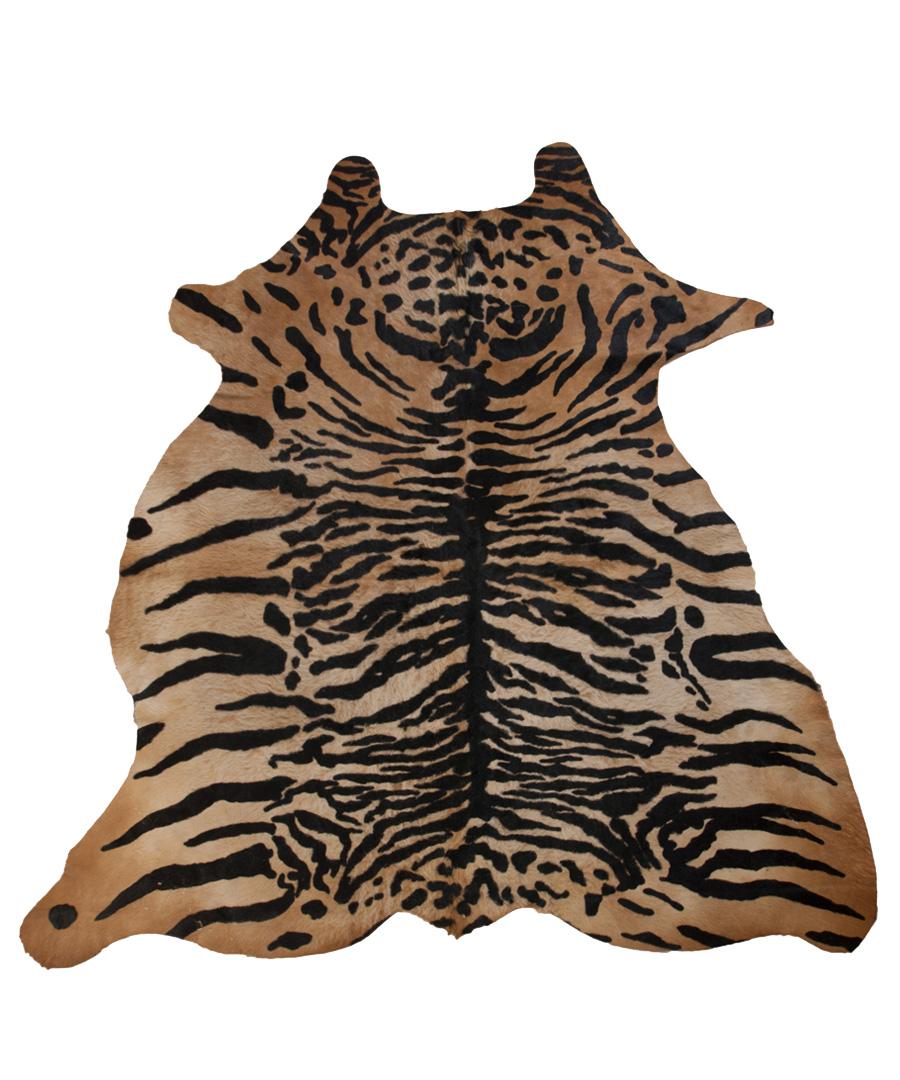 Discount 227cm X 182cm Tiger Print Cowhide Rug