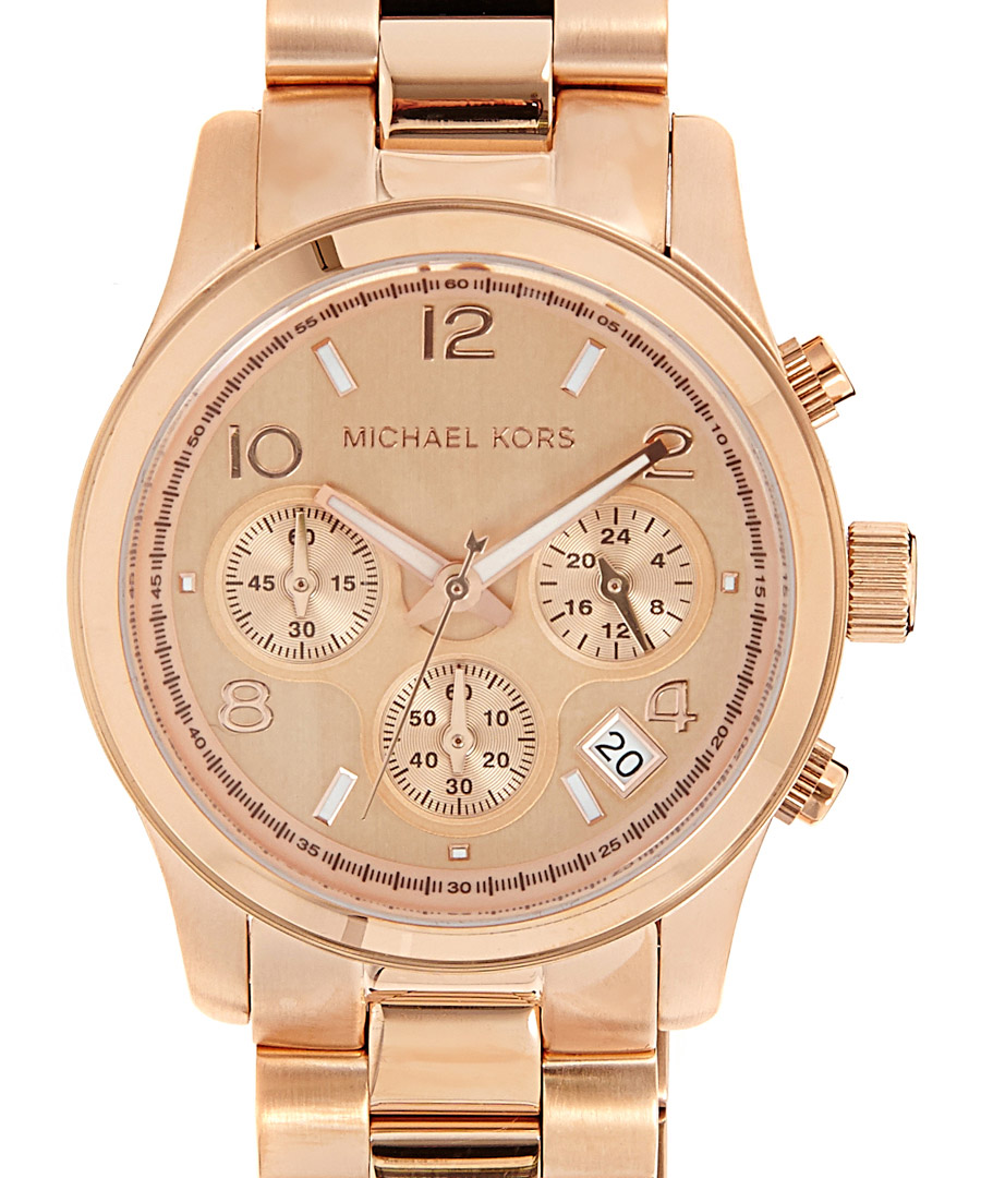 Discount runway rose gold tone watch secretsales for Watches rose gold