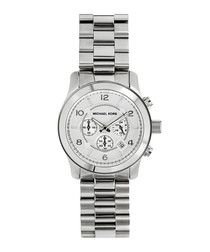 Runway silver-tone bracelet strap watch
