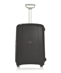 Aeris black spinner suitcase 71cm