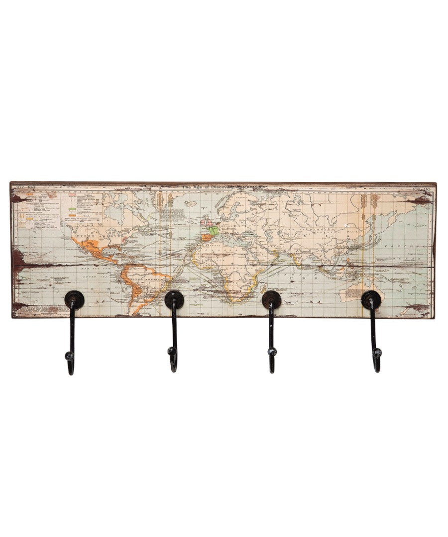 World map rectangular coat rack Sale - Kare