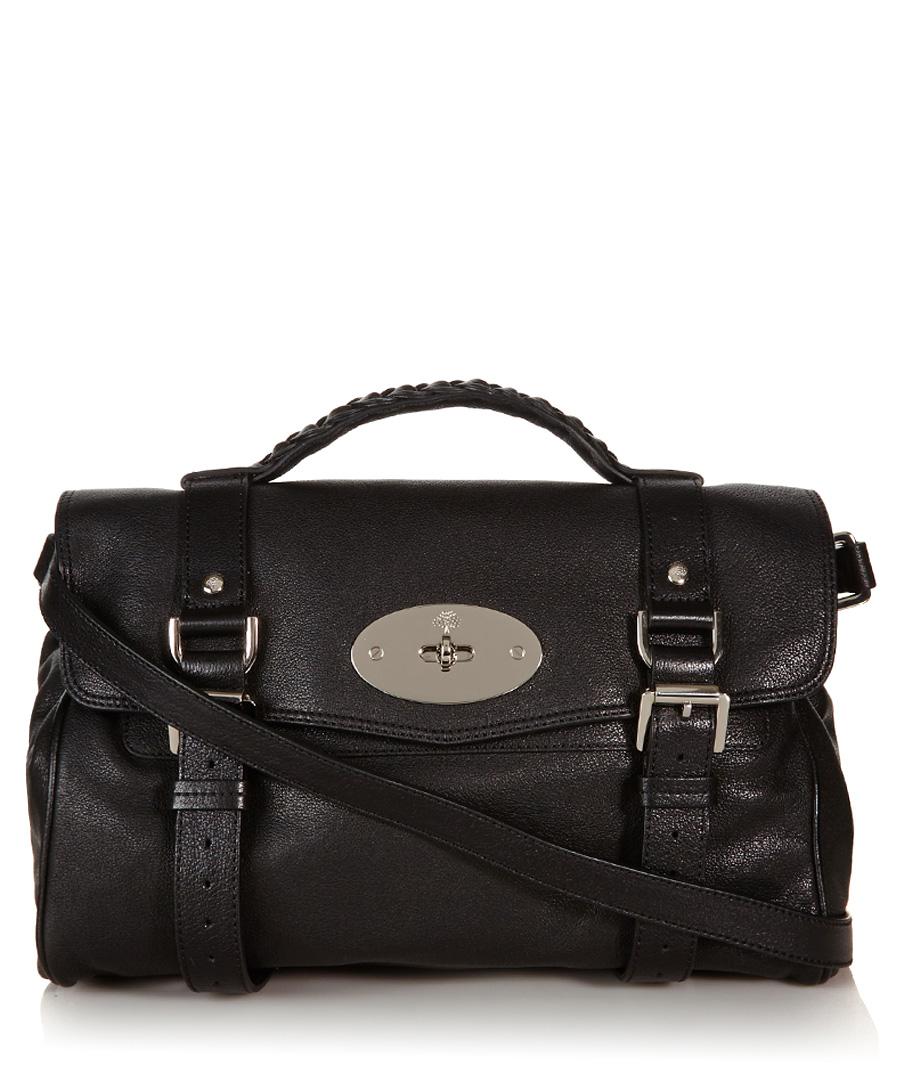 842f152abb Alexa black leather satchel Sale - Mulberry ...