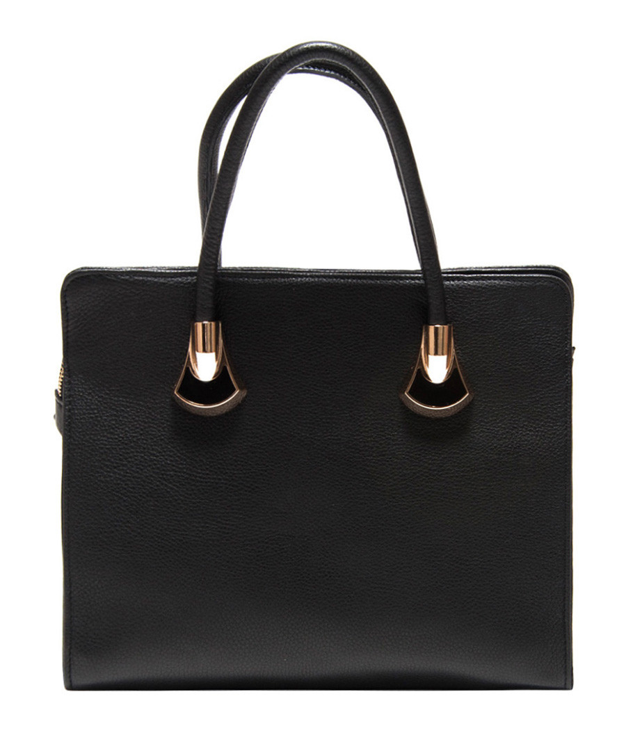 Black leather handbag Sale - Roberta M.