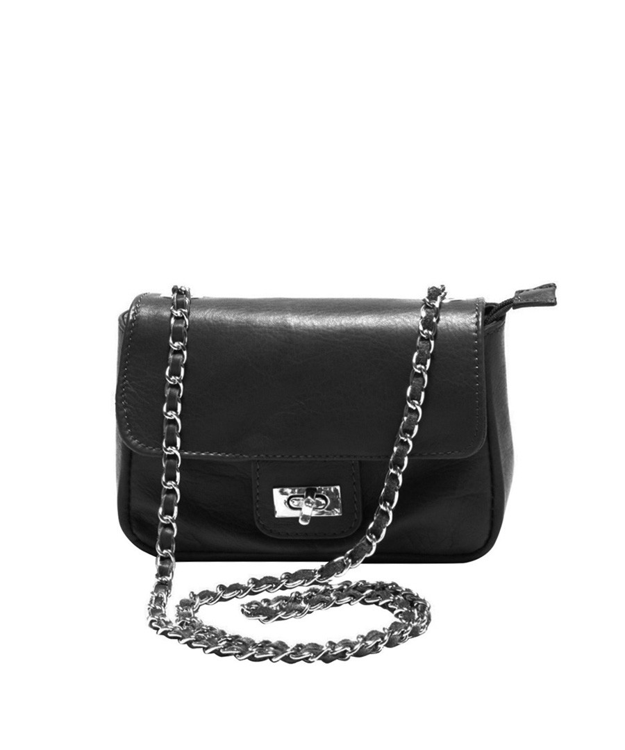 Black leather flap bag Sale - Roberta M.