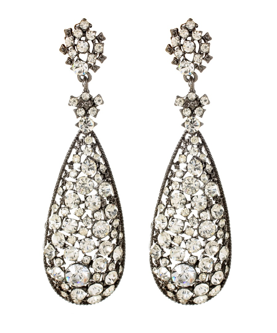 Eloise gunmetal drop earrings Sale - Amrita Singh