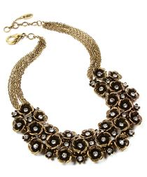 Eliza antique gold-tone floral necklace