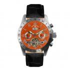 Galactique orange & leather watch