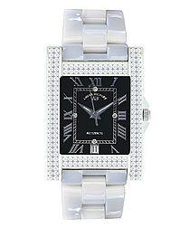 Hera white ceramic diamond watch