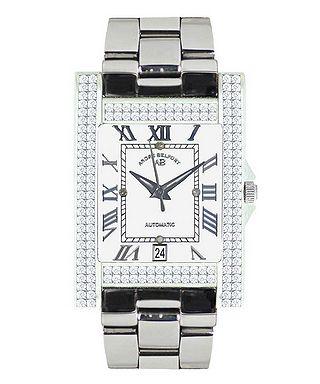 Hera silver-tone diamond watch