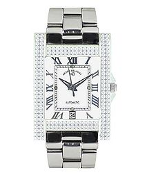 Hera silver-tone diamond watch