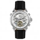 Étoile Polaire black leather watch