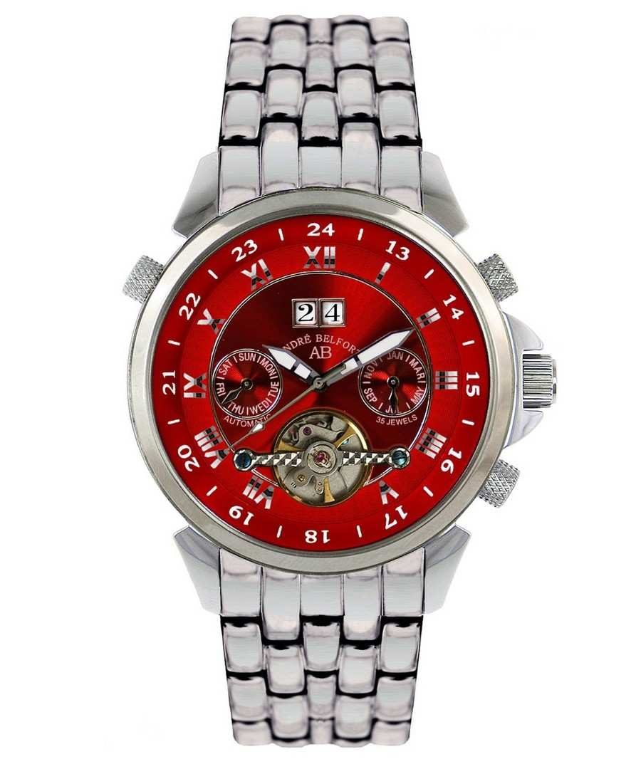 Étoile Polaire red & steel watch Sale - andre belfort
