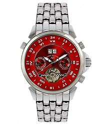 Étoile Polaire red dial steel watch