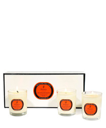 Image of 3pc orange & cedar candle gift set