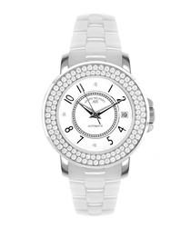Aphrodite white diamond bezel watch