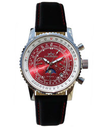 Air Fighter black leather watch