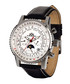 Air Fighter black leather watch Sale - hindenberg Sale