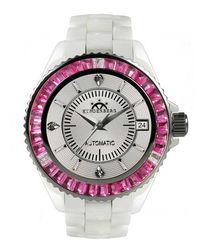 Galaxy pink zirconia & diamond watch