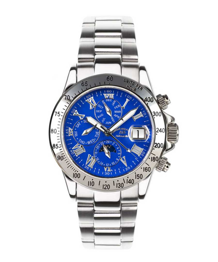 Le Capitaine blue dial steel watch Sale - andre belfort