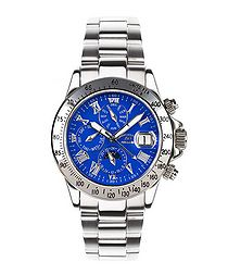 Le Capitaine blue dial steel watch