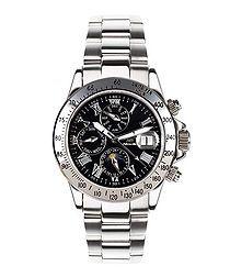 Le Capitaine black steel watch