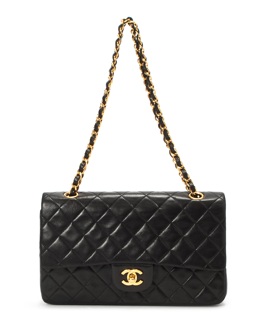 Discount Black A rate matelasse double chain bag   SECRETSALES 088025bab9