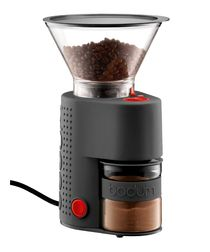 Bistro black electric coffee grinder