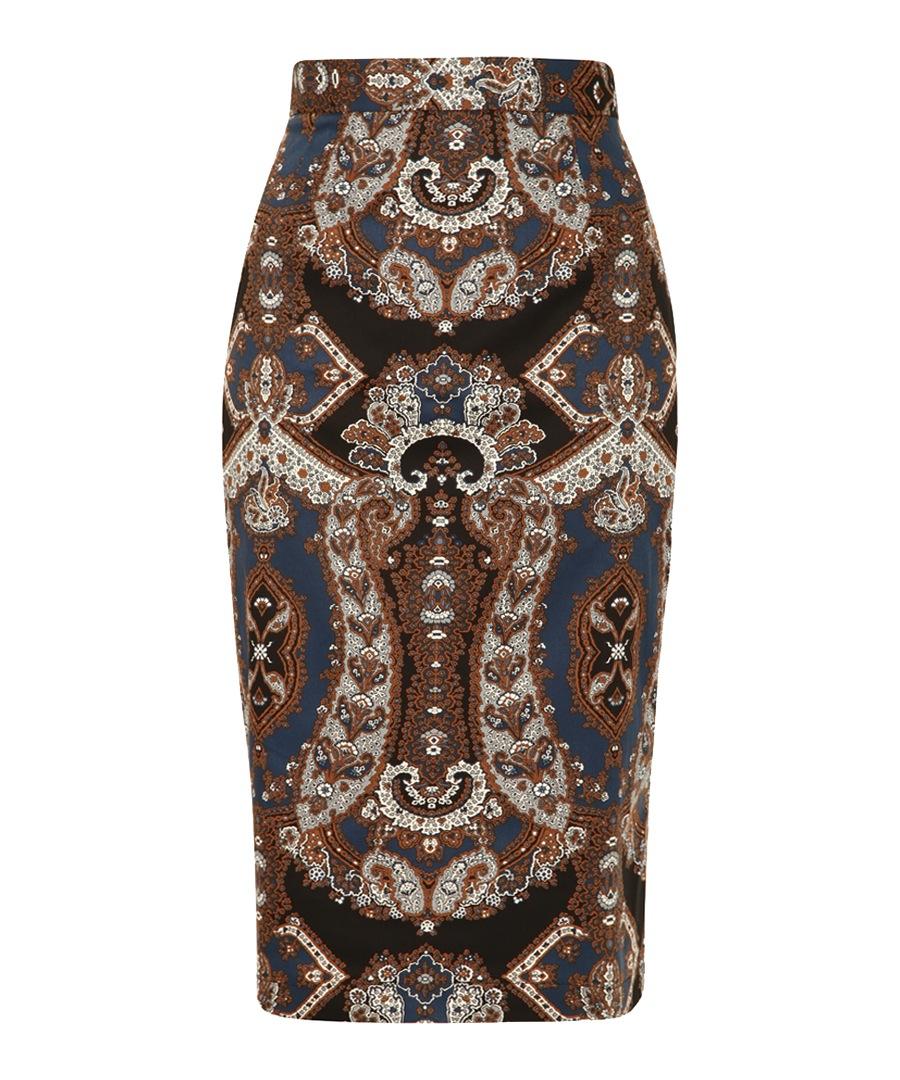 Brandy paisley printed pencil skirt Sale - Louche