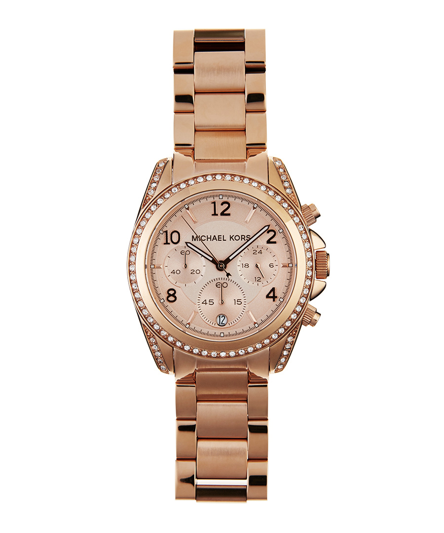 Blair rose gold-plated crystal watch Sale - Michael Kors