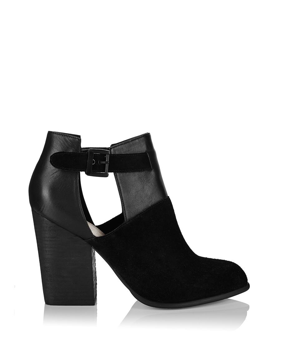 Tara black leather cut-out ankle boots Sale - Carvela Kurt Geiger