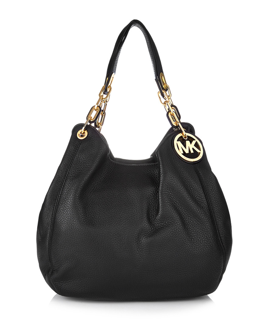 Black leather slouchy shoulder bag Sale - Michael Kors 59b848490