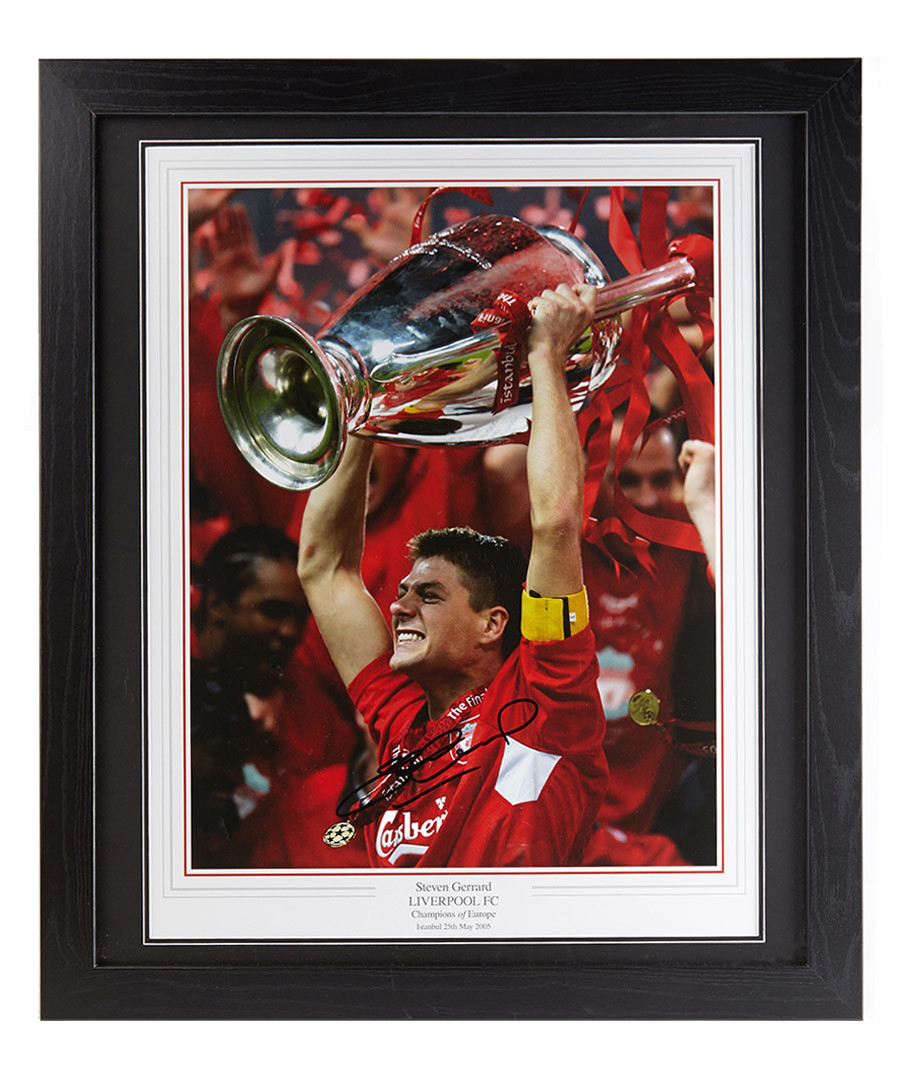 Steven Gerrard signed & framed photo Sale - sporting memorabilia
