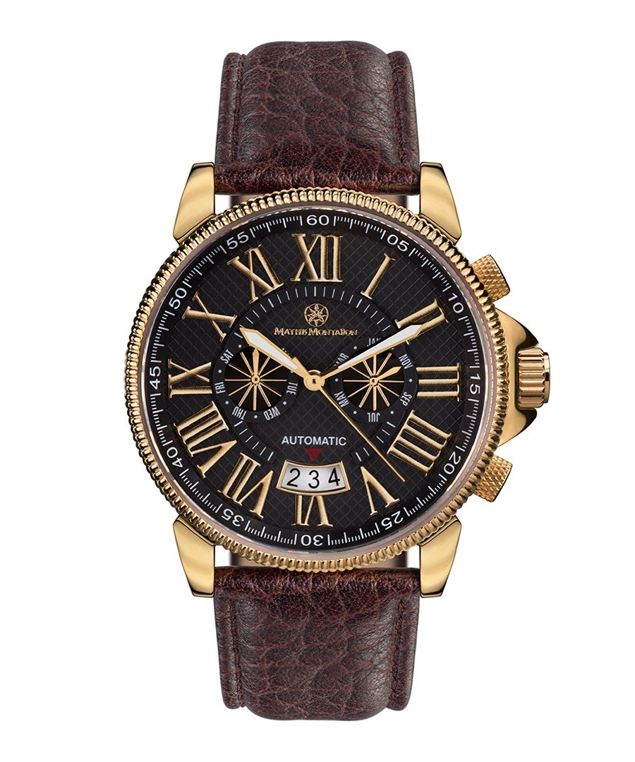 Classique Modern brown leather watch Sale - mathis montabon