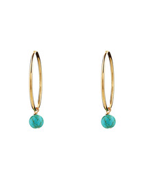 18k gold-filled turquoise earrings