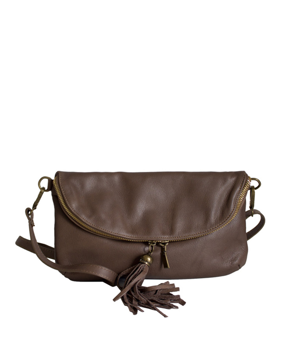 Sabine taupe leather shoulder bag Sale - Roberto Buono