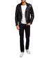 Black leather collared biker jacket Sale - Barney's Originals Sale
