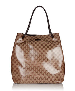 Crystal large leather trim shopper Sale - Gucci Sale 703f3de9494f7