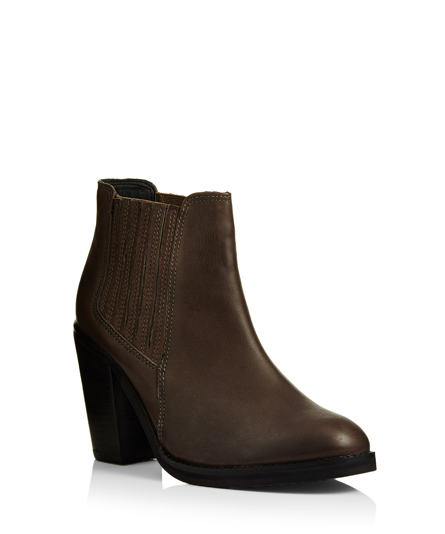 really cheap famous brand look good shoes sale Discount Tally brown leather ankle boots | SECRETSALES