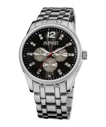 Black dial crystal detail watch