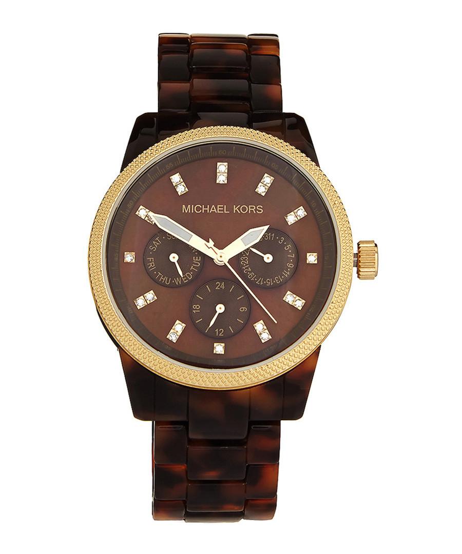 4d68d58289768 Ritz tortoiseshell bracelet watch Sale - Michael Kors