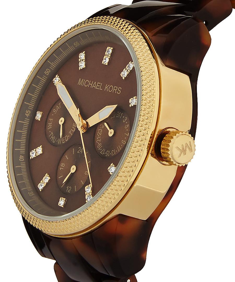 f069c5e2fba57 ... Ritz tortoiseshell bracelet watch Sale - Michael Kors Sale ...