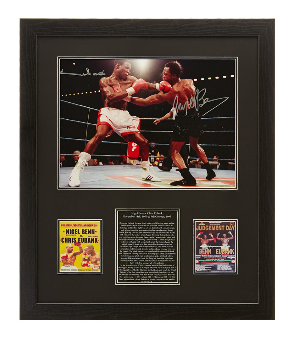 Nigel Benn & Chris Eubank signed photo Sale - Sporting Memorabilia